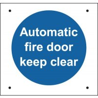 Auto Fire Door Keep Clear Vandal-Resistant Sign