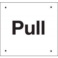 Pull Vandal-Resistant Sign