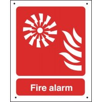 Fire Alarm (Sound Symbol) - Vandal-Resistant Sign