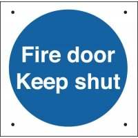Fire Door Keep Shut/No Symbol Vandal-Resistant Sign