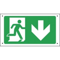 Running Man & Arrow Down - Vandal-Resistant Sign