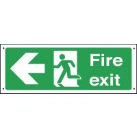 Fire Exit Running Man/Arrow Left Vandal-Resistant Signs