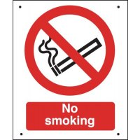 No Smoking - Vandal-Resistant Sign