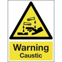 Warning Caustic Signs