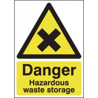 Danger Hazardous Waste Storage Signs