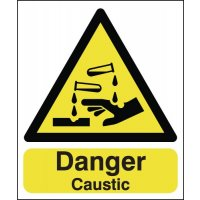 Danger Caustic Signs