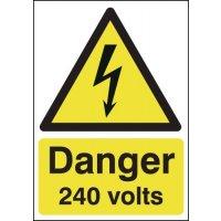 Danger 240 Volts Signs