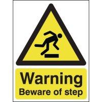 Warning Beware Of Step Signs