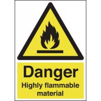 Danger Highly Flamable Material Signs