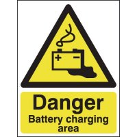 Danger Battery Charging Area Signs
