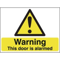 Warning This Door Is Alarmed Sign