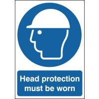 Head Protection Must Be Worn Signs