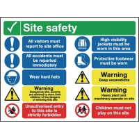 10 Message Site Safety Multi-Message Signs