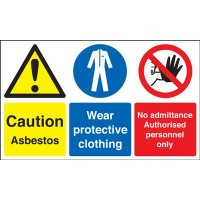 Caution Asbestos/Protective Clothing Signs