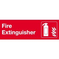 Fire Extinguisher (Symbol) Laser Engraved Acrylic Sign
