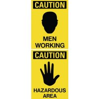 Men Working / Hazardous Area Dual Message Floor Stand