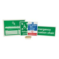 Evacuation Chair Sign Awareness Kits