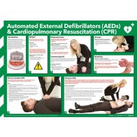 AED Defibrillation & CPR Poster