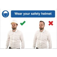 Wear Safety Helmet Do & Don't Visual Signs