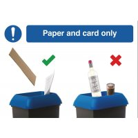 Paper & Card Recycling Do & Don't Visual Signs