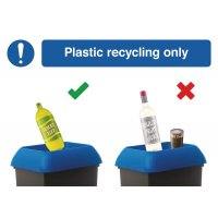 Plastics Recycling Do & Don't Visual Signs