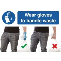 Wear Gloves to Handle Waste Do & Don't Visual Signs