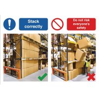 Stack Correctly Do & Don't Visual Signs