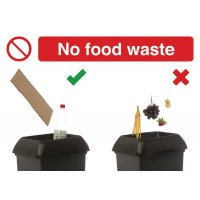 No Food Waste Recycling Do & Don't Visual Signs