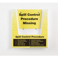Spill Control Document Holder