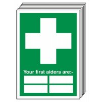 6-Pack Your First Aiders Are Signs