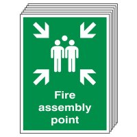 6-Pack Fire Assembly Outdoor Aluminium Signs