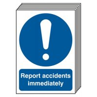 6-Pack Report Accidents Immediately Signs