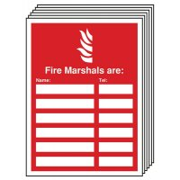 6-Pack Fire Marshals Are Update Sign Holders