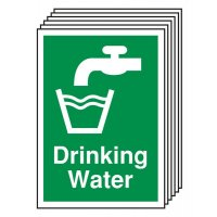 6-Pack Drinking Water Signs