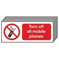 Turn Off All Mobile Phones Signs - 6 Pack