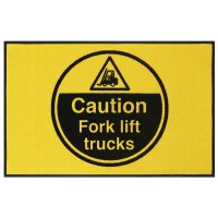 Caution Fork Lift Trucks Highly Visible Mats