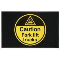 Caution Fork Lift Trucks Highly Visible Mats