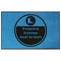 Protective Footwear Must Be Worn Highly Visible Mats