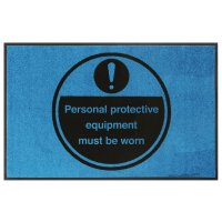 PPE Must Be Worn Highly Visible Mats