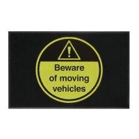 Beware of Moving Vehicles Highly Visible Mats