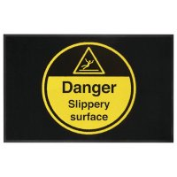 Danger Slippery Surface Highly Visible Mat
