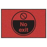 No Exit Highly Visible Mats