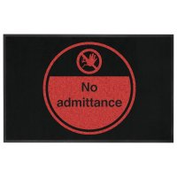 No Admittance Highly Visible Mats