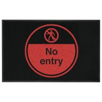 No Entry Highly Visible Mats