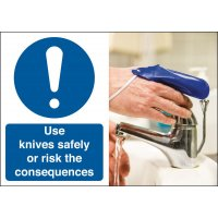 Use Your Knives Safely Consequence Safety Signs