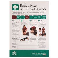 HSE First Aid Basic Advice Poster