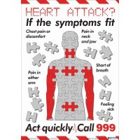 Symptoms of a Heart Attack Poster