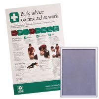 Snap Frame & HSE First Aid Basic Advice Poster Bundle
