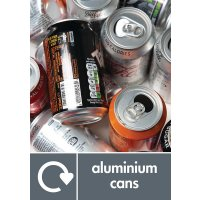 Aluminium Cans - WRAP Metal Waste Recycling Pictorial Signs