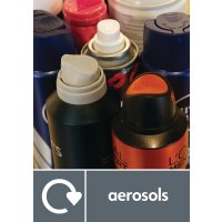 Aerosols - WRAP Metal Waste Recycling Pictorial Signs